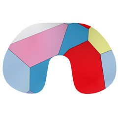 Colorful pastel shapes Travel Neck Pillow