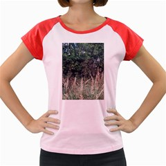 Grass And Trees Nature Pattern Women s Cap Sleeve T-Shirt (Colored)