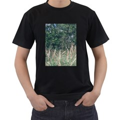 Grass And Trees Nature Pattern Men s Two Sided T Shirt (black)