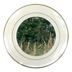 Grass And Trees Nature Pattern Porcelain Display Plate