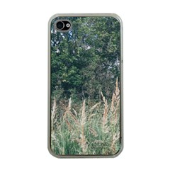 Grass And Trees Nature Pattern Apple Iphone 4 Case (clear)