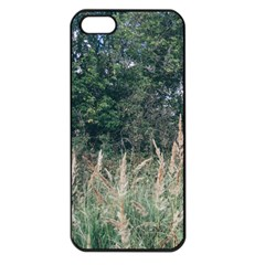 Grass And Trees Nature Pattern Apple Iphone 5 Seamless Case (black)