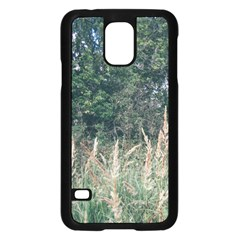 Grass And Trees Nature Pattern Samsung Galaxy S5 Case (Black)