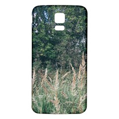Grass And Trees Nature Pattern Samsung Galaxy S5 Back Case (White)