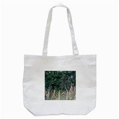 Grass And Trees Nature Pattern Tote Bag (White)