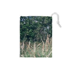 Grass And Trees Nature Pattern Drawstring Pouch (Small)