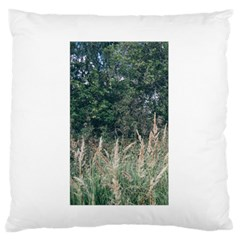Grass And Trees Nature Pattern Large Flano Cushion Case (One Side)