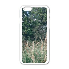 Grass And Trees Nature Pattern Apple Iphone 6 White Enamel Case