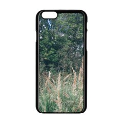 Grass And Trees Nature Pattern Apple iPhone 6 Black Enamel Case