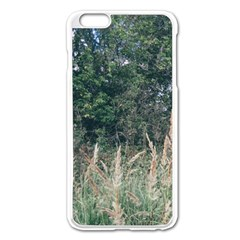 Grass And Trees Nature Pattern Apple iPhone 6 Plus Enamel White Case