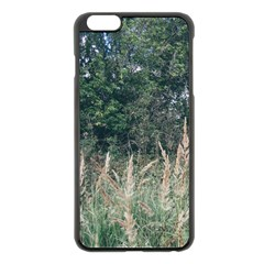Grass And Trees Nature Pattern Apple iPhone 6 Plus Black Enamel Case