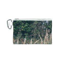 Grass And Trees Nature Pattern Canvas Cosmetic Bag (Small)