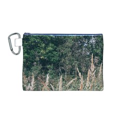 Grass And Trees Nature Pattern Canvas Cosmetic Bag (Medium)