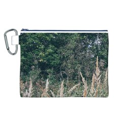 Grass And Trees Nature Pattern Canvas Cosmetic Bag (Large)