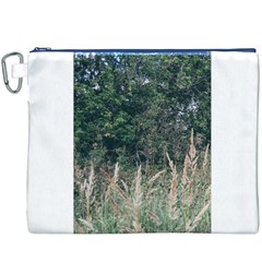 Grass And Trees Nature Pattern Canvas Cosmetic Bag (XXXL)