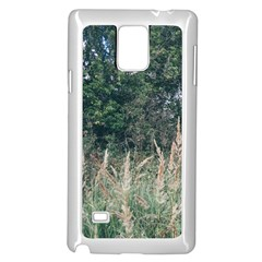 Grass And Trees Nature Pattern Samsung Galaxy Note 4 Case (White)