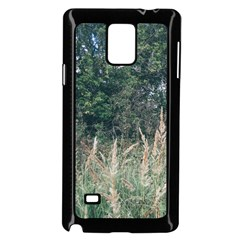 Grass And Trees Nature Pattern Samsung Galaxy Note 4 Case (Black)