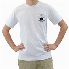 T-shirt heren wit voor en achter