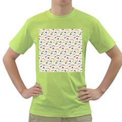 Mustaches Men s T-shirt (Green)