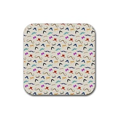 Mustaches Drink Coaster (square)