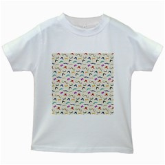 Mustaches Kids T Shirt (white)