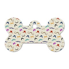 Mustaches Dog Tag Bone (one Sided)