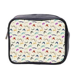 Mustaches Mini Travel Toiletry Bag (two Sides)