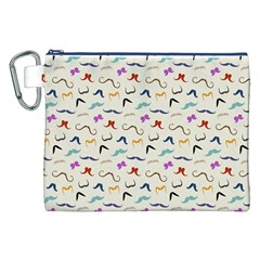 Mustaches Canvas Cosmetic Bag (XXL)