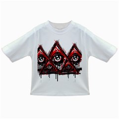 Red White pyramids Baby T-shirt