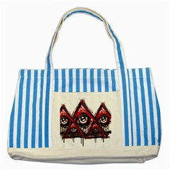 Red White Pyramids Blue Striped Tote Bag