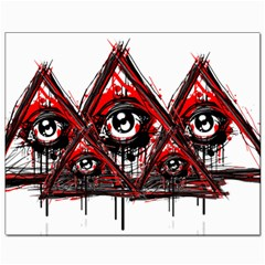 Red White Pyramids Canvas 8  X 10  (unframed)