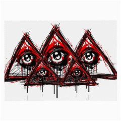 Red White Pyramids Glasses Cloth (large)