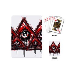 Red White Pyramids Playing Cards (mini)