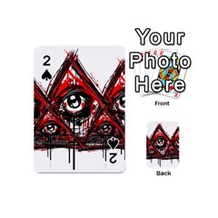 Red White pyramids Playing Cards 54 Designs (Mini)