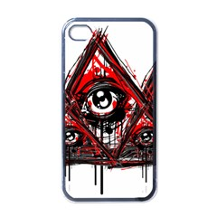 Red White Pyramids Apple Iphone 4 Case (black)