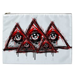 Red White Pyramids Cosmetic Bag (xxl)