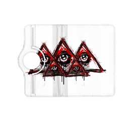 Red White pyramids Kindle Fire HD (2013) Flip 360 Case