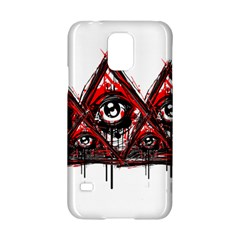 Red White pyramids Samsung Galaxy S5 Hardshell Case