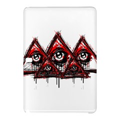 Red White pyramids Samsung Galaxy Tab Pro 10.1 Hardshell Case