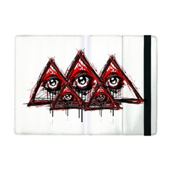 Red White Pyramids Apple Ipad Mini 2 Flip Case