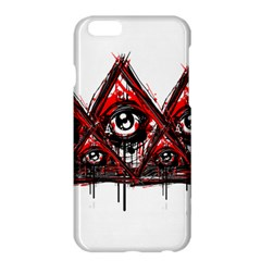 Red White pyramids Apple iPhone 6 Plus Hardshell Case