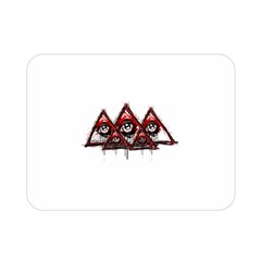 Red White pyramids Double Sided Flano Blanket (Mini)
