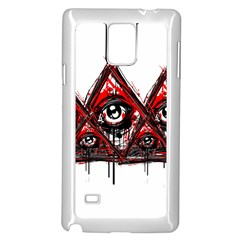 Red White Pyramids Samsung Galaxy Note 4 Case (white)