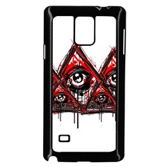 Red White pyramids Samsung Galaxy Note 4 Case (Black)