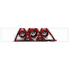 Red White Pyramids Flano Scarf (small)