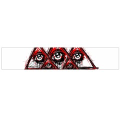 Red White pyramids Flano Scarf (Large)