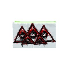 Red White pyramids Cosmetic Bag (XS)