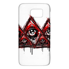 Red White pyramids Samsung Galaxy S6 Hardshell Case