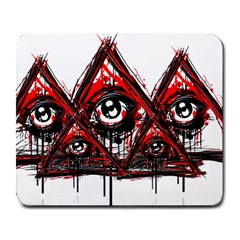 Red White Pyramids Large Mouse Pad (rectangle)