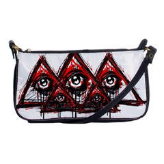 Red White Pyramids Evening Bag